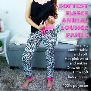 Softest Fleece Animal Lounge Pants